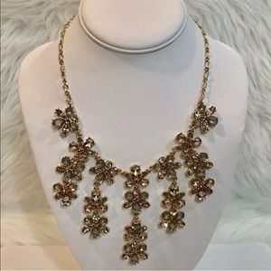 International Concepts Crystal Statement Necklace
